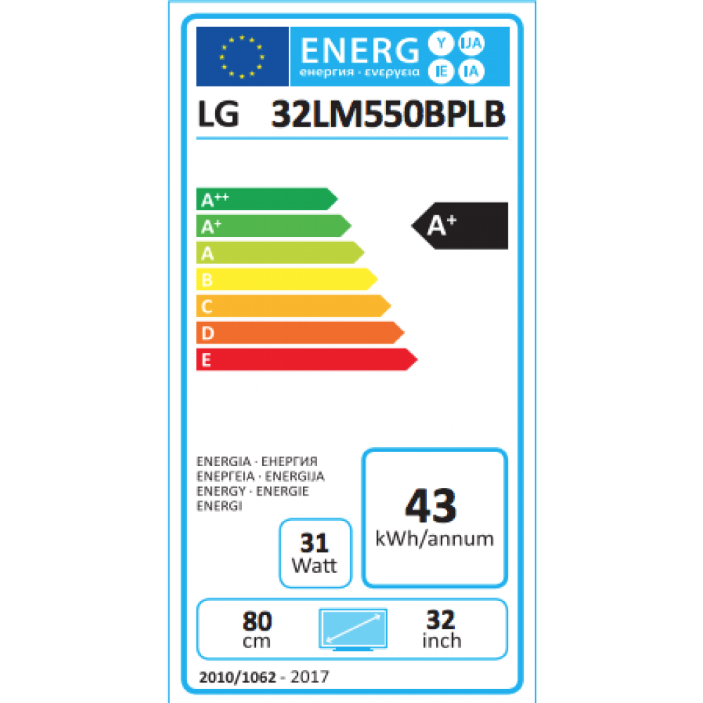 32lm550bp energie