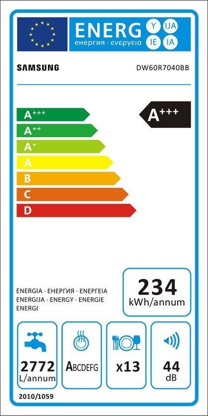 Dw60r7040bb energie