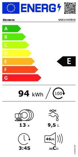 Sn61hx08ve energie