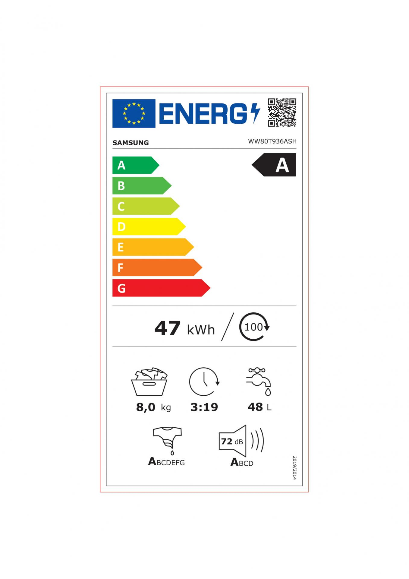 Ww80t936ash energie